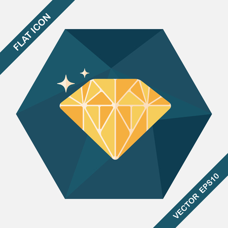 propose: Propose diamond flat icon with long shadow,eps10 Illustration