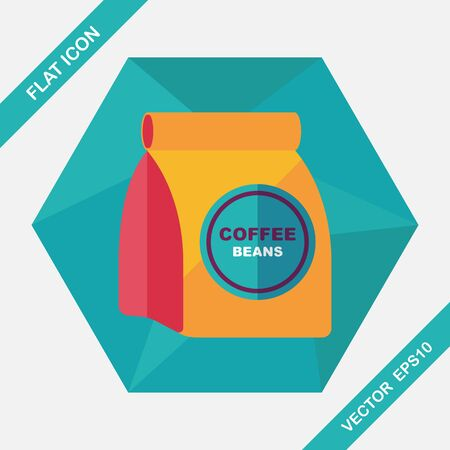 roasting: coffee bean flat icon with long shadow,eps10