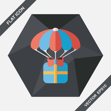 christmas gifts: Christmas gifts flat icon with long shadow,eps10