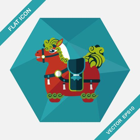 immediately: Chinese New Year flat icon with long shadow,eps10, Chinese decoration means  Wishing you immediately earn a lot of money.