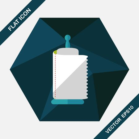 cleanse: kitchenware paper flat icon with long shadow,eps10