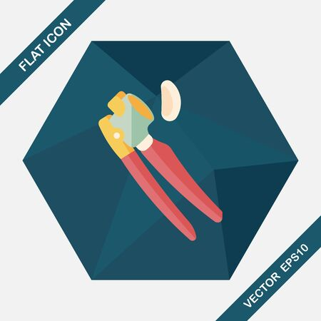 kitchenware garlic tool flat icon with long shadow
