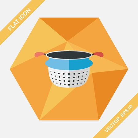 filters: kitchenware water filters flat icon with long shadow,eps10 Illustration