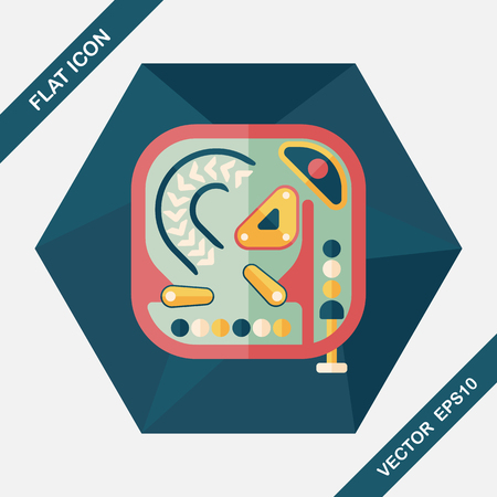 nudging: Pinball flat icon with long shadow,eps10