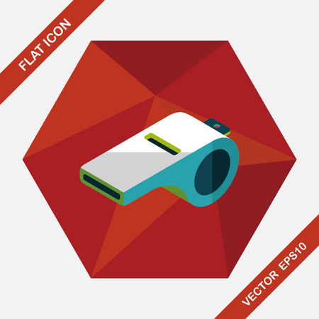 beep: whistle flat icon with long shadow,eps10 Illustration