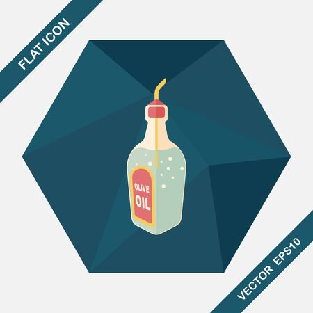kitchenware oil flat icon with long shadow,eps10
