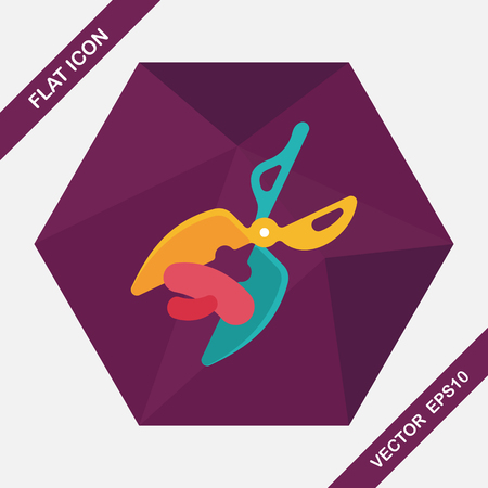 hairstylist: Pet scissors flat icon with long shadow,eps10 Illustration