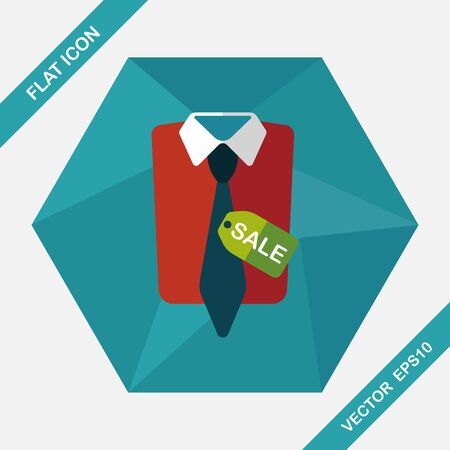 boutique display: shopping suit flat icon with long shadow,eps10