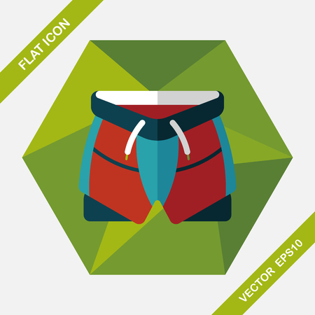 activity exercising: cycling shorts flat icon with long shadow,eps10