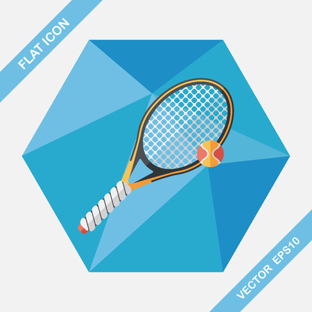 bounces: tennis flat icon with long shadow,eps10