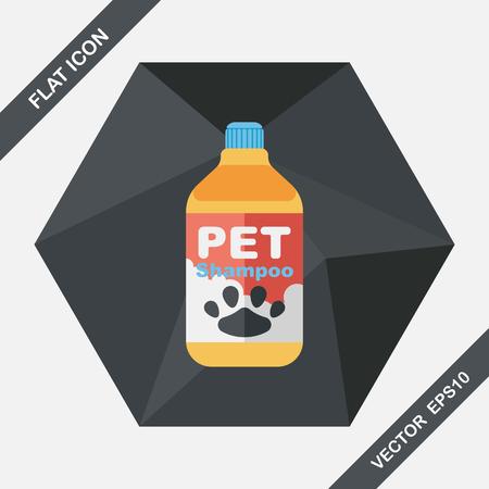bathtime: Pet shampoo flat icon with long shadow,eps10