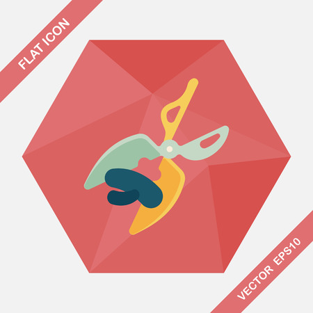 hairstyling: Pet scissors flat icon with long shadow,eps10 Illustration