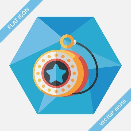 yoyo: yo yo flat icon with long shadow,eps 10 Illustration