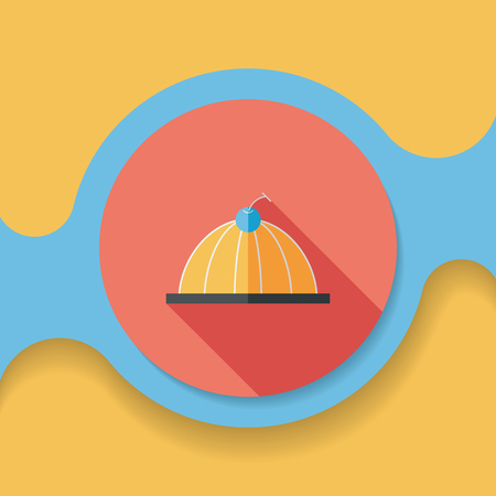 jelly: sweet jelly flat icon with long shadow,eps10 Illustration