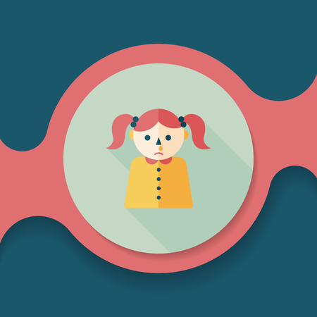 mucus: dripping nose flat icon with long shadow,eps10