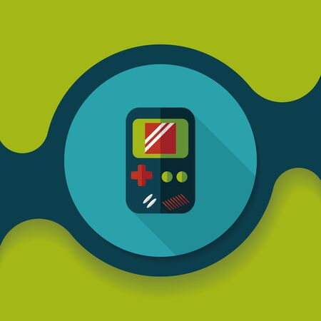 handheld: Handheld game flat icon with long shadow,eps 10