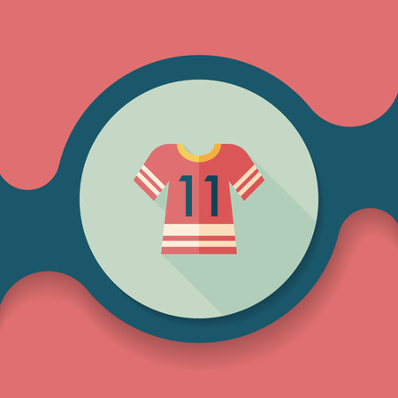 jerseys: Sports jerseys flat icon with long shadow Illustration