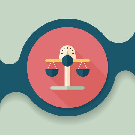 work icons: Financial balance flat icon with long shadow,eps10 Illustration