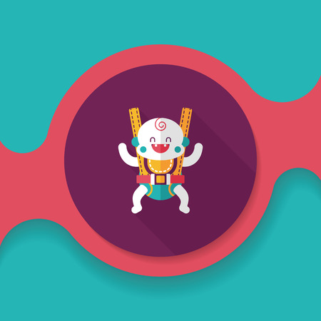 backing: baby flat icon with long shadow Illustration