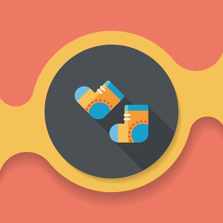 long socks: socks flat icon with long shadow