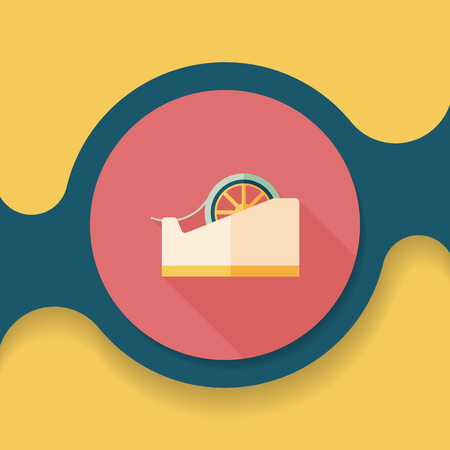 adhesive: adhesive tape flat icon with long shadow Illustration