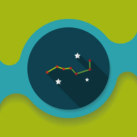 dipper: Space dipper flat icon with long shadow