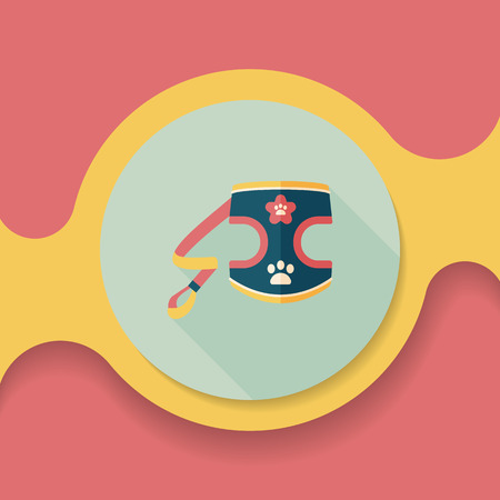 clothed: Pet Clothes flat icon with long shadow,
