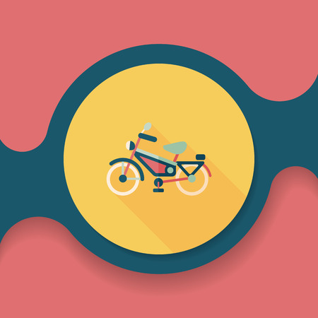 Cone plano de bicicleta de transporte com sombra longa, Foto de archivo - 51414610