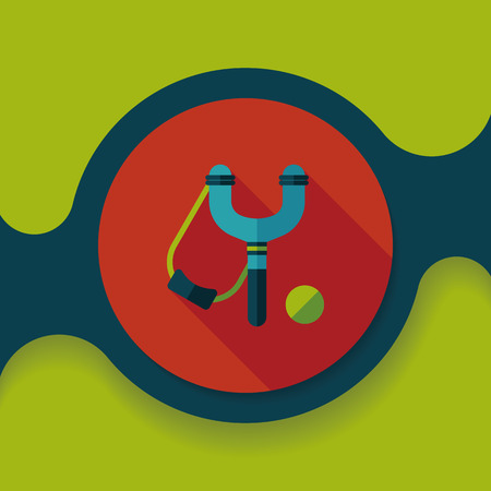 slingshot flat icon with long shadow,