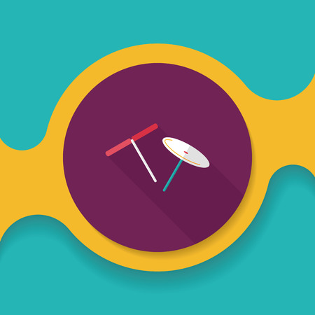 man made object: blades propeller toy flat icon with long shadow