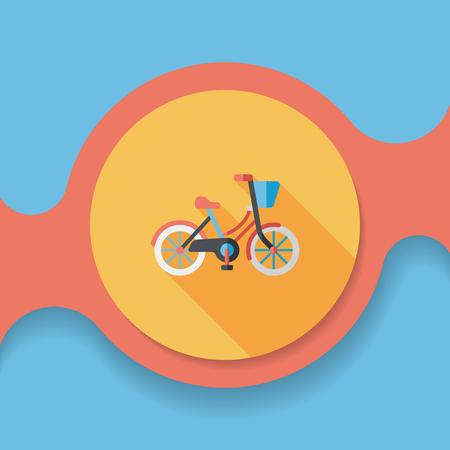 El transporte en bicicleta icono plana con una larga sombra, Foto de archivo - 51562817