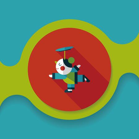 acrobatics: La acrobacia china del A�o Nuevo icono plana chica con una larga sombra, Vectores