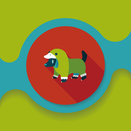 clothed: Pet Clothes flat icon with long shadow, eps10
