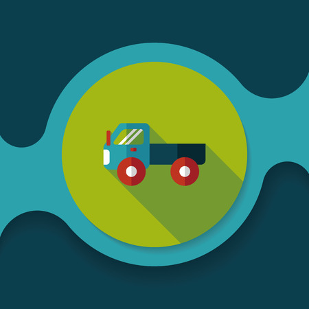 automotive industry: Transportation truck flat icon with long shadow,eps10 Illustration