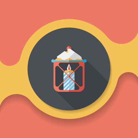 advent candles: Christmas candle flat icon with long shadow,eps10