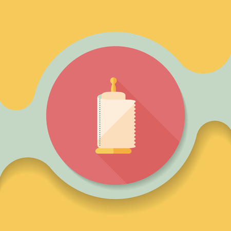 cleansing: kitchenware paper flat icon with long shadow