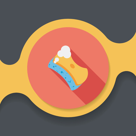 scour: Kitchenware scouring pads flat icon with long shadow