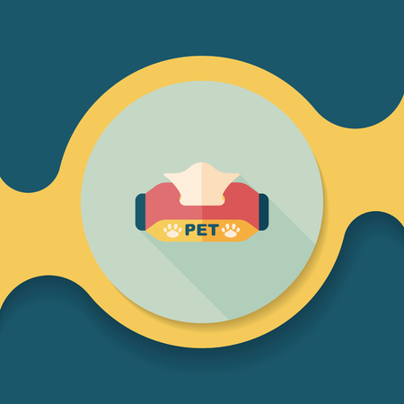 Pet style tissue case flat icon with long shadow,