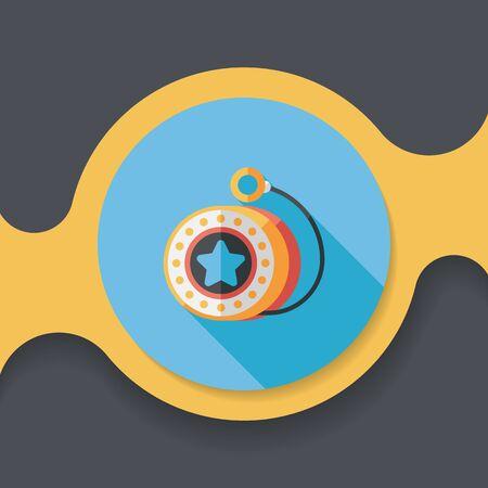 yoyo: yo yo flat icon with long shadow Illustration
