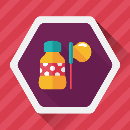 transparence: bubbles flat icon with long shadow Illustration