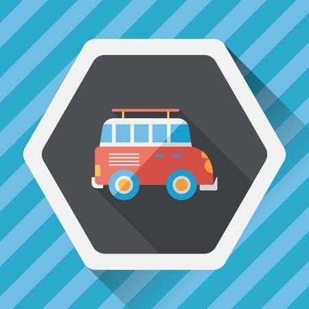 utilities: Transportation Sports Utility Vehicle flat icon with long shadow,eps10 Illustration