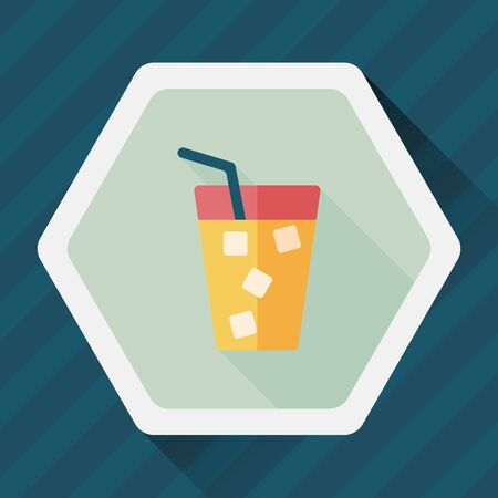 liter: soda drink flat icon with long shadow,eps10