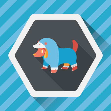 clothed: Pet Clothes flat icon with long shadow