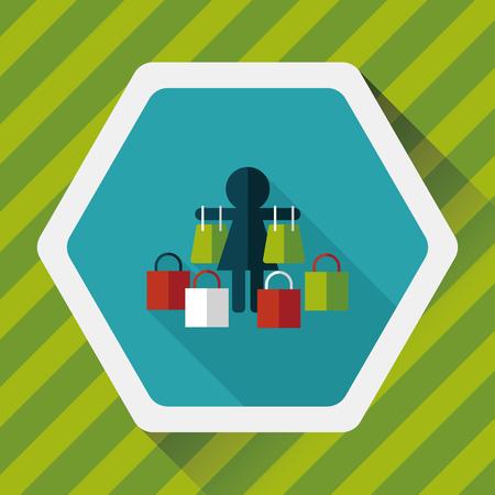 shopaholic: SALE Shopaholic flat icon with long shadow,