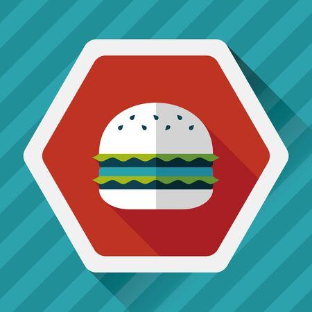 sub menu: sandwich flat icon with long shadow