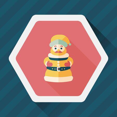 carols: Santa Claus flat icon with long shadow
