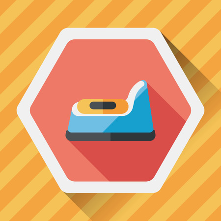 piddle: baby potty flat icon with long shadow