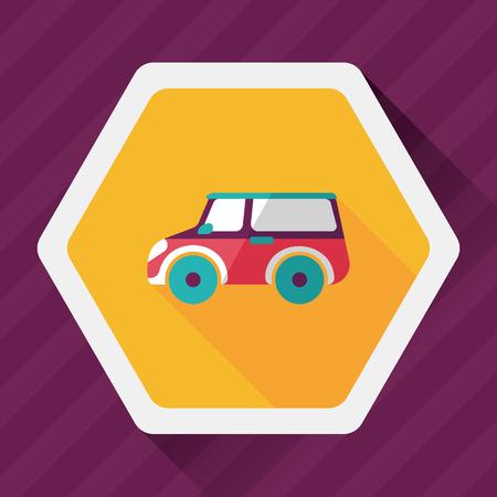 utility vehicle: Transportation Sports Utility Vehicle flat icon with long shadow Illustration