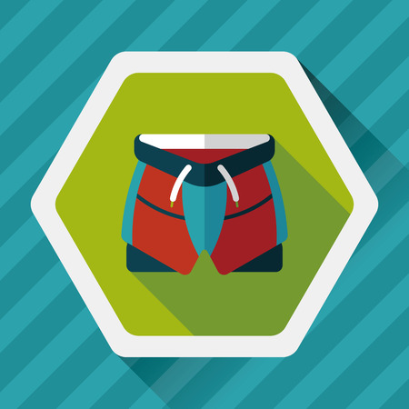 cycling shorts flat icon with long shadow,eps10