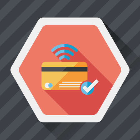 creditcard: shopping credit card flat icon with long shadow,eps10 Illustration